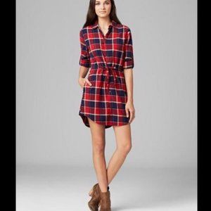 Jach's Flannel Plaid Dress Red Small